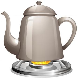 ガスストーブで水を沸騰