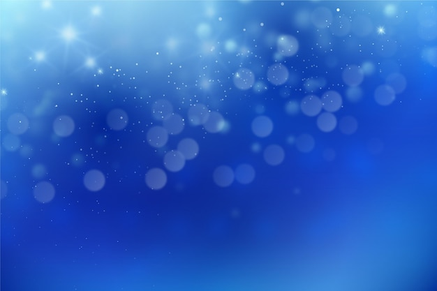 Bokeh abstract blue background