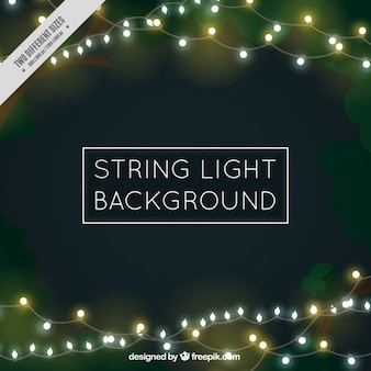Bokeh background of beautiful string lights