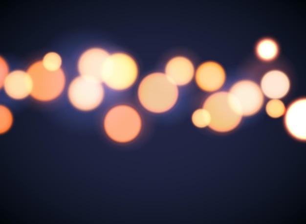 Bokeh background effect circle focus. abstract vector blur bokeh light yellow soft flare.