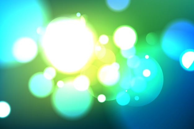 Bokeh background in gradient style