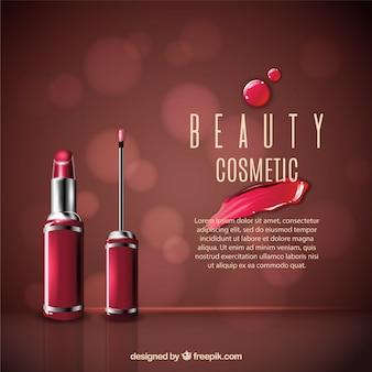 Bokeh background makeup
