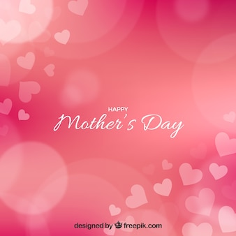 Bokeh background of mother's day