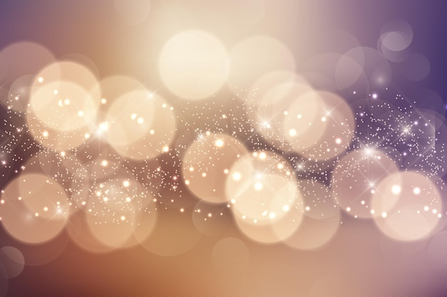 Bokeh background realistic style