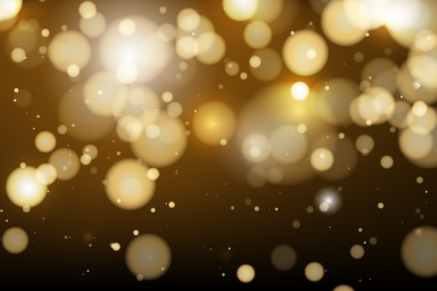 Bokeh background sparkling lights style