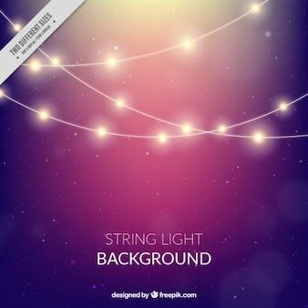 Bokeh background of string lights