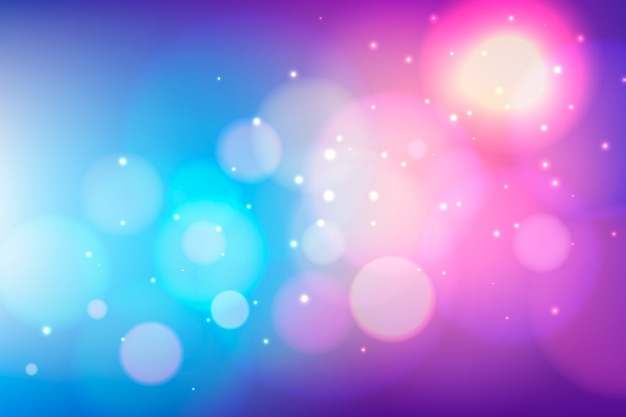 Bokeh background with vivid lights