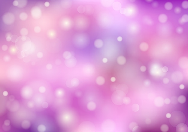 Bokeh blur background. color pastel, purple and pink. abstract vector
