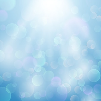 Bokeh blurred light vector background