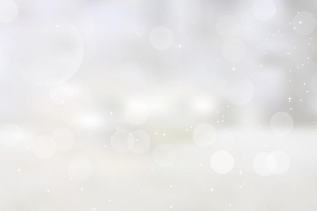 Боке размытые огни и снег
