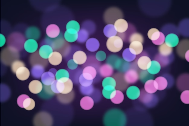 Bokeh blurred particles background