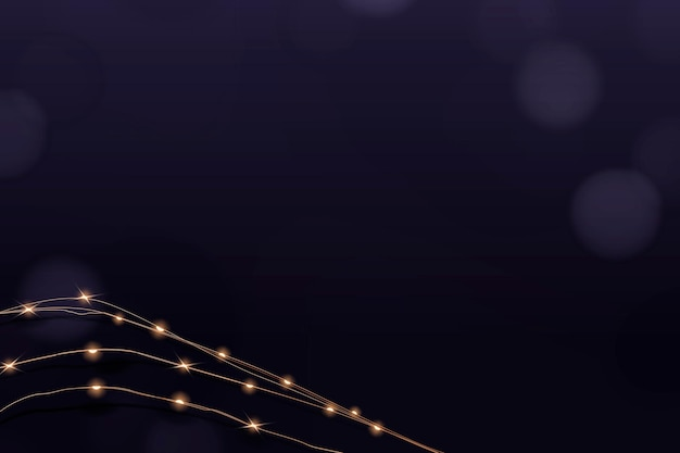 Боке границы фон вектор в фиолетовый с светящимися проводными огнями