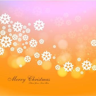 Боке рождественская открытка со снежинками