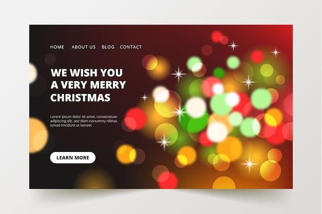 Pagina di destinazione natalizia di bokeh
