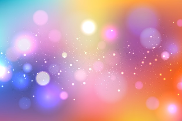 Bokeh design bright background