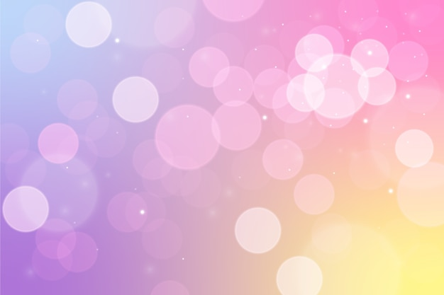 Bokeh design light background