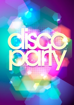 Bokeh disco party background.