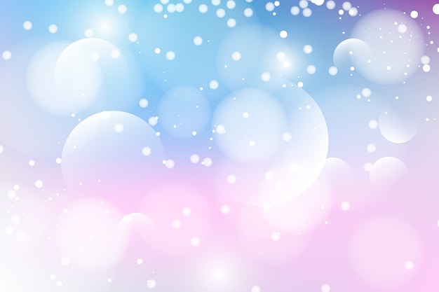 Bokeh effect background with fuzzy circles