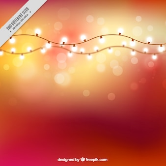 Bokeh effect background with garlands of lights