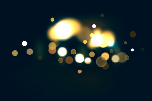 Bokeh effect on dark wallpaper