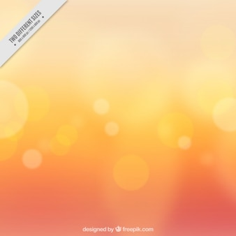 Bokeh effect on orange background