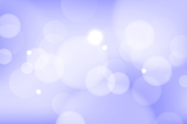 Bokeh effect screensaver gradient style