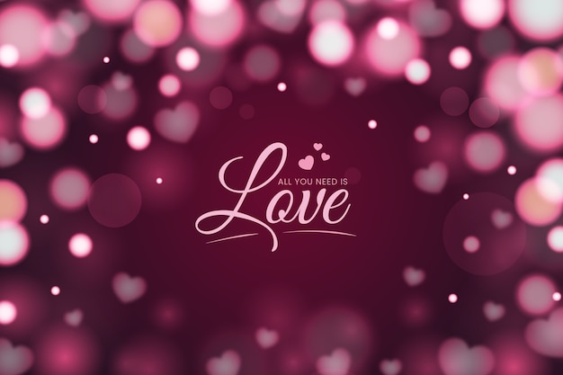 Bokeh effect valentines day background