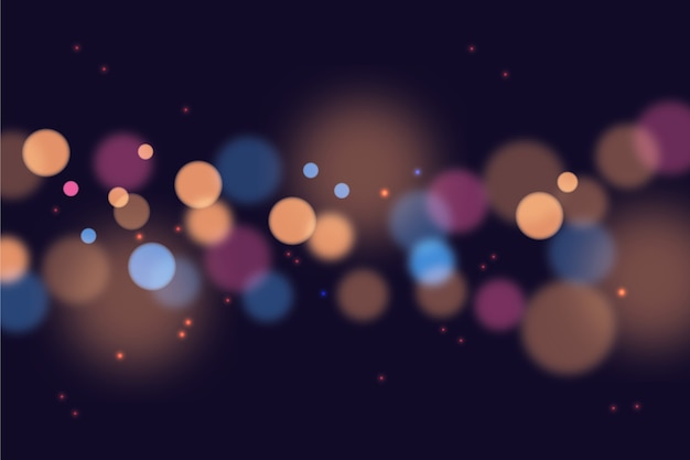 Bokeh effect wallpaper in gradient