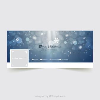 Bokeh facebook обложка для рождественского сезона
