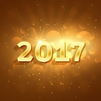 Bokeh golden new year background