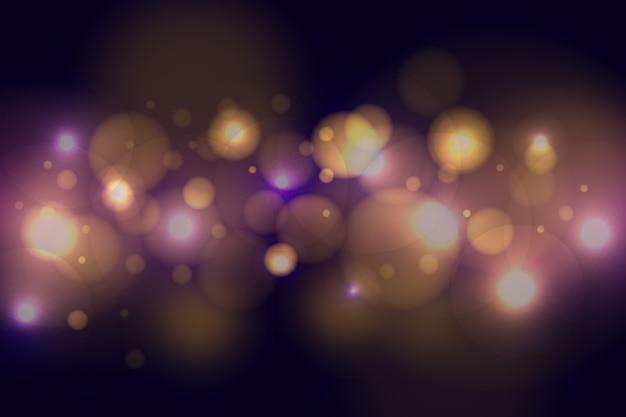 暗い背景にボケ味の光の効果