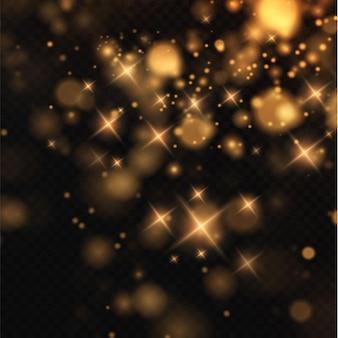 Боке световые огни эффект фон рождественский фон сияющей пыли рождественский светящийся боке