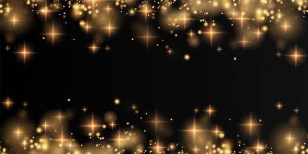 ボケ光の光が背景に影響を与えます輝くほこりのクリスマスの背景クリスマスの輝き