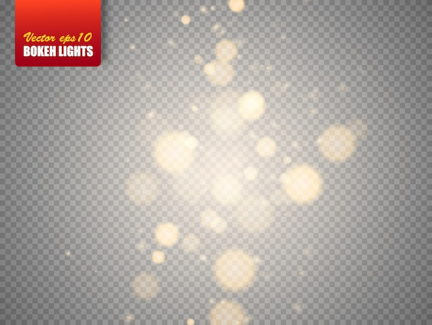 Bokeh lights abstract   magic blurred glowing particles