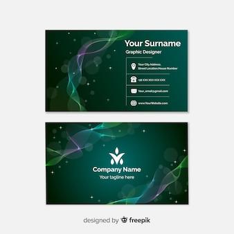 Bokeh lights business card template