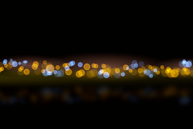 Bokeh lights effect on dark background style