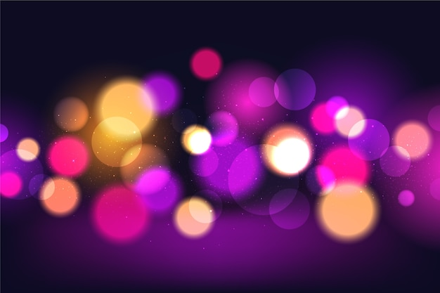 Bokeh lights effect on dark background