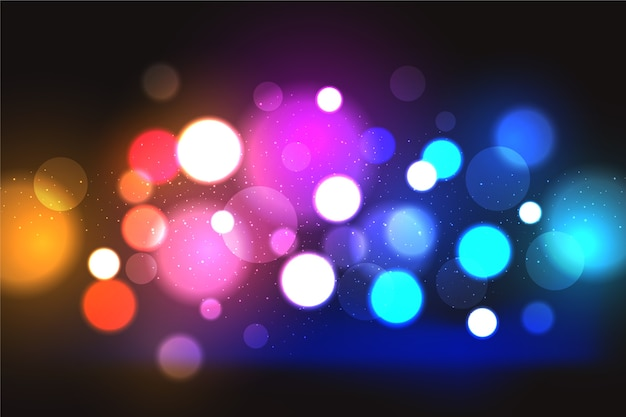 Bokeh lights effect with dark background