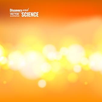 Bokeh lights over orange background.