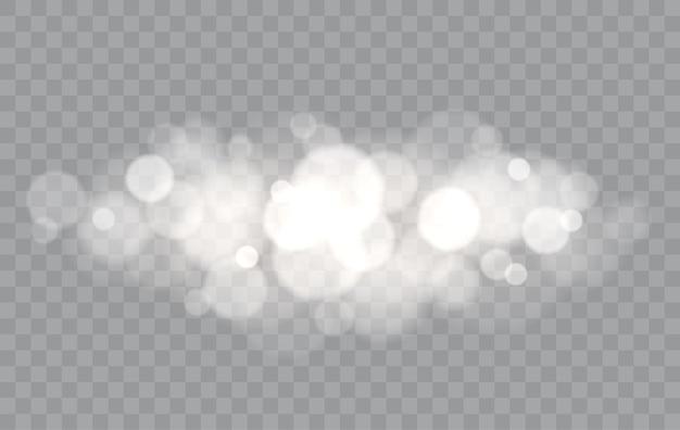Боке огни наложения изолированные размытые формы абстрактный световой эффект