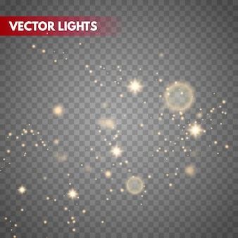 Bokeh lights vector background. magic blurred particles.