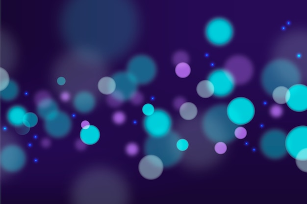 Bokeh lights wallpaper in gradient