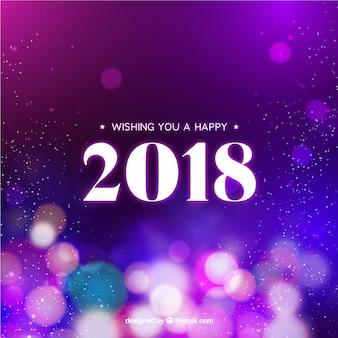 Bokeh new year 2018 background