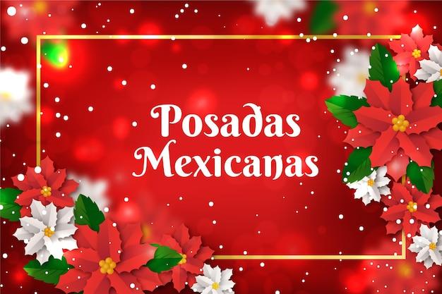 Bokeh posadas mexicanas background
