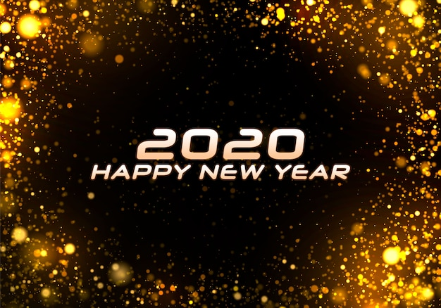 Bokeh sparkle christmas 2020 background.