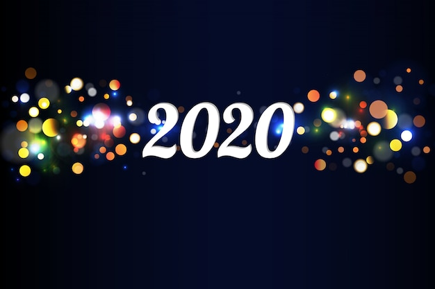 Bokeh sparkle christmas 2020
