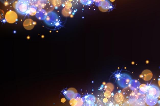 ボケがきらめきます。光の効果。明るい粒子。