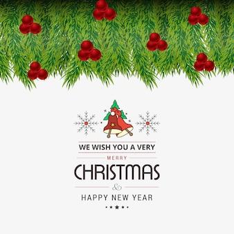 Рождественская открытка bokeh style design
