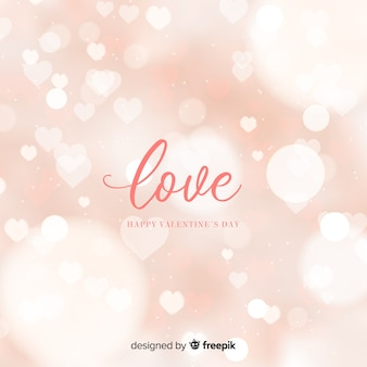 Bokeh valentine background