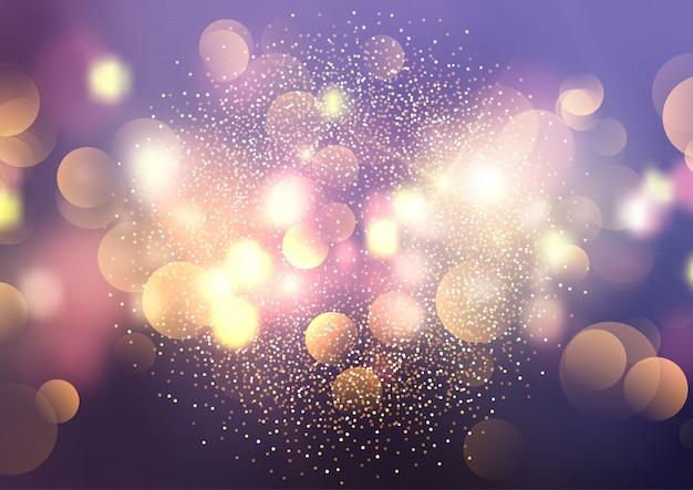 Bokehのライトと光る背景